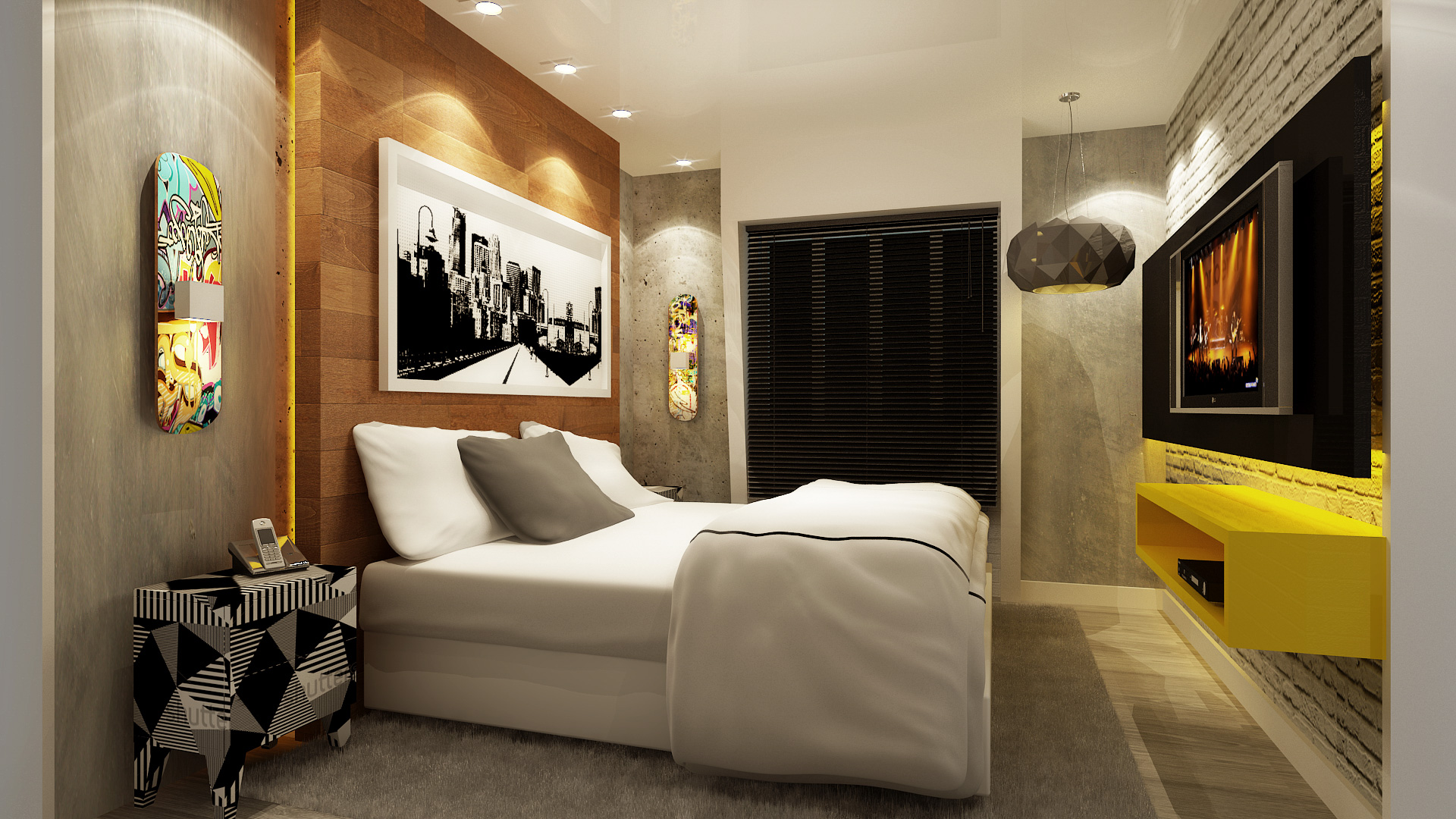 01-quarto-design-interiores-mazzark-arquitetos-marmorato-rac-amarelo
